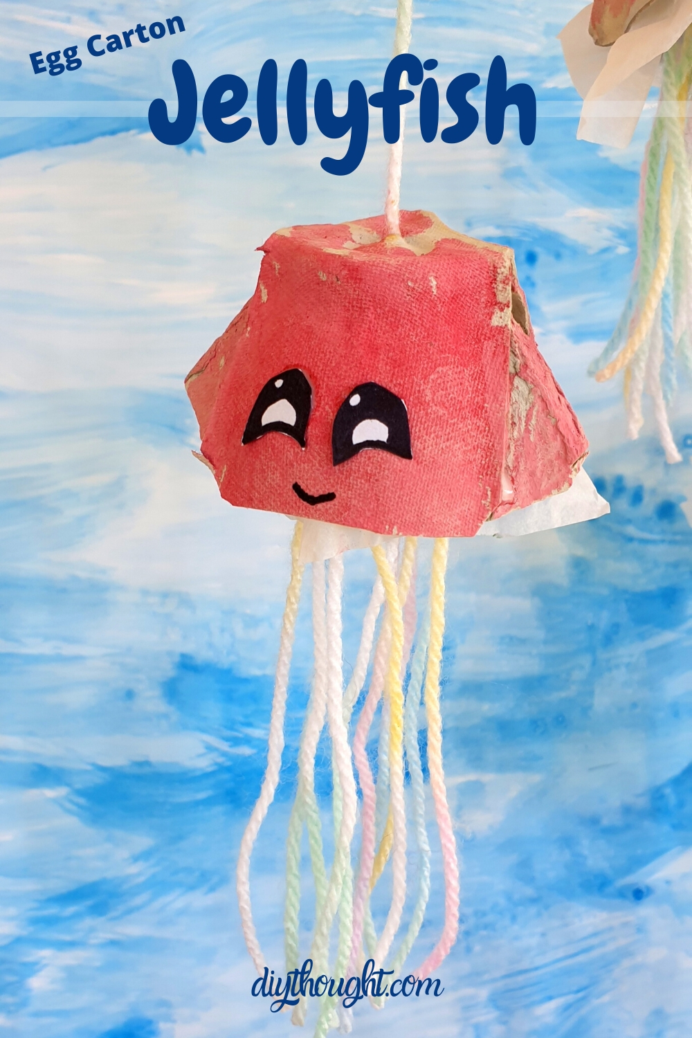 Egg carton jellyfish recycled craft
