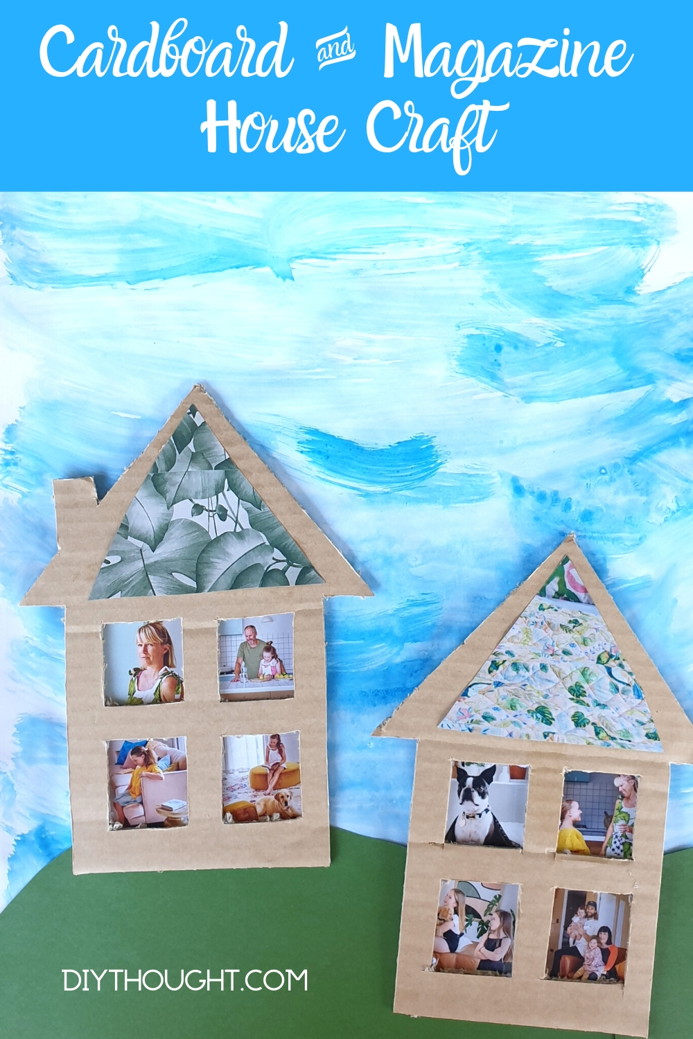 recycled magazine house craft
