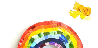 rainbow collage craft
