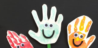 happy handprint puppet craft