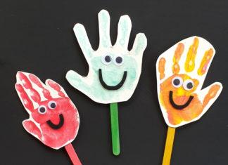 happy handprint puppet craft