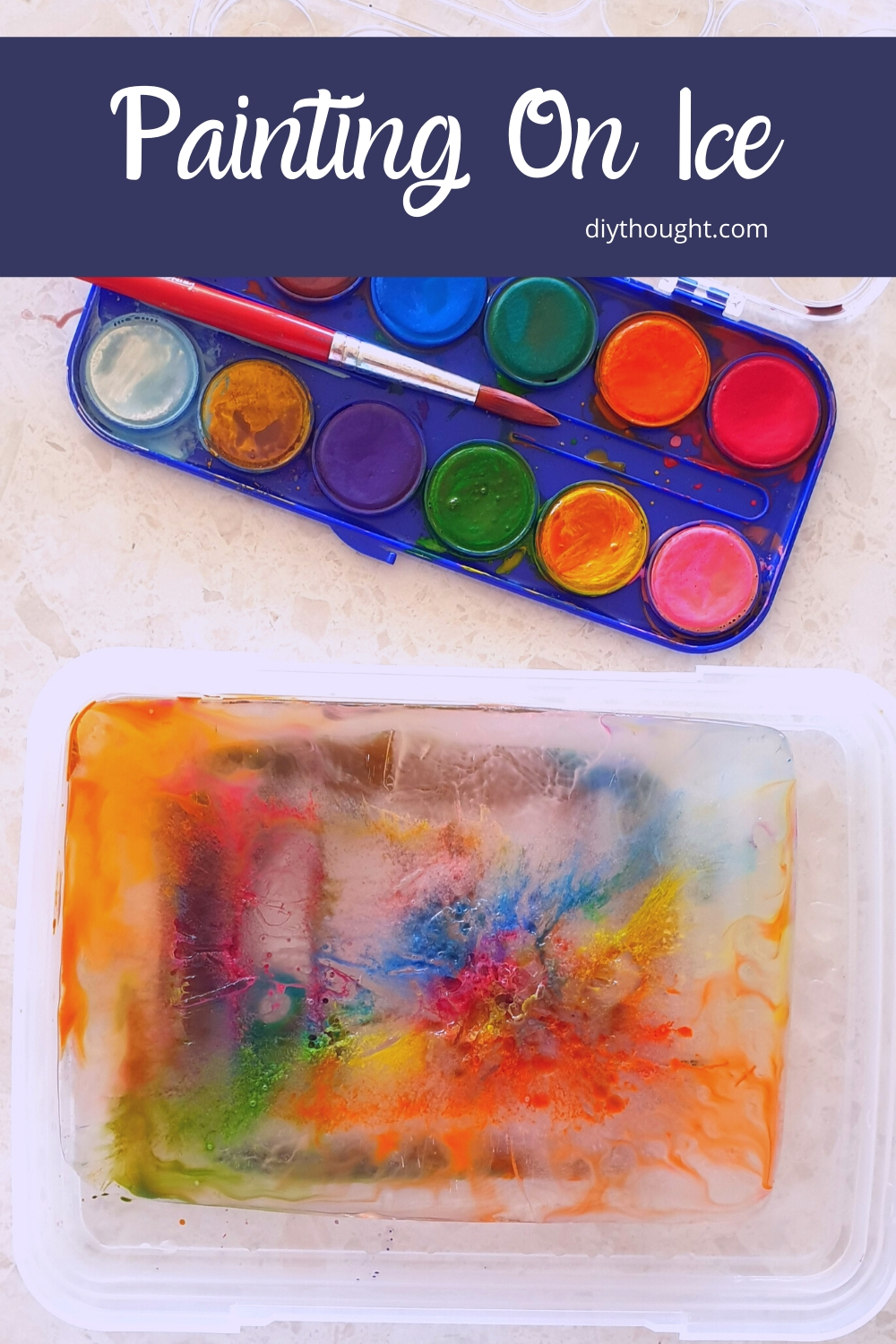 painting on ice