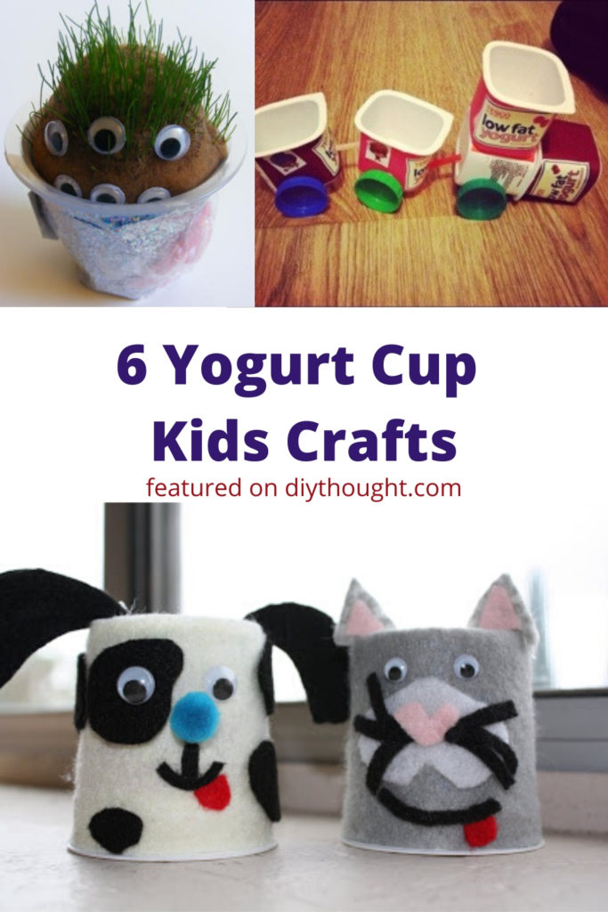 yogurt cup kids crafts