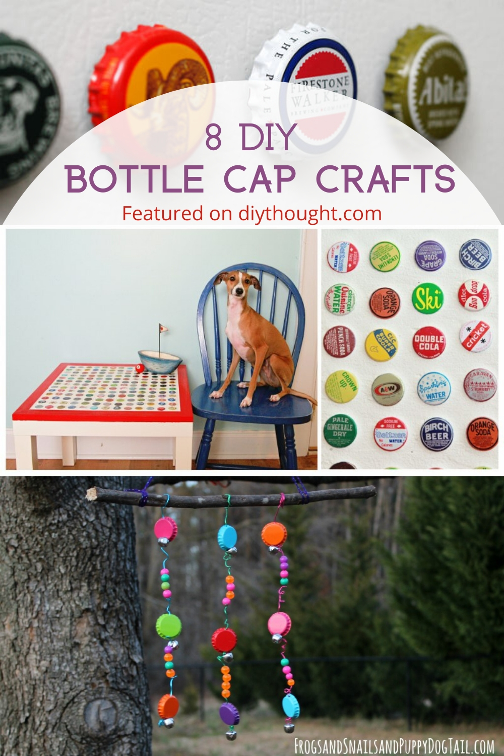 8 DIY bottle cap crafts