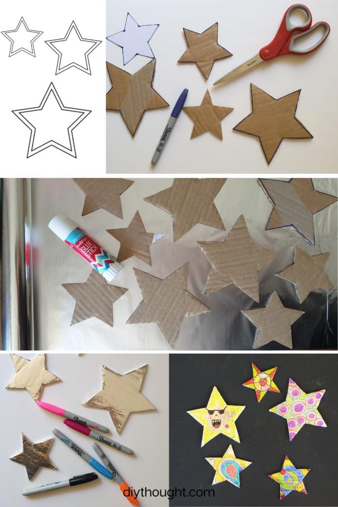 how to make foil art stars