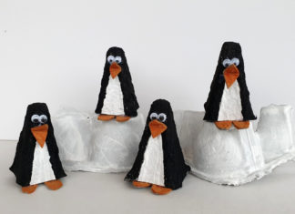 egg carton penguins