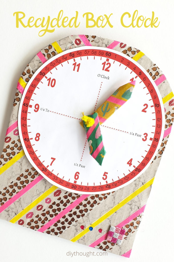 recycled box clock