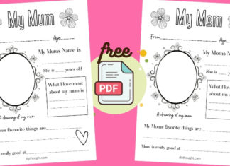 my mum/ my mom printable