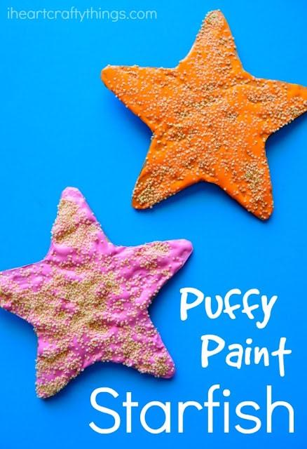 puffy paint starfish