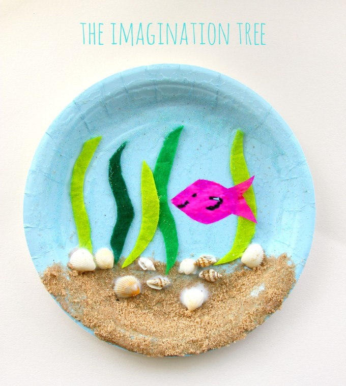 paper plate under the sea