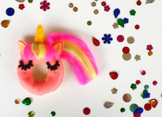 how to make a felt unicorn donut