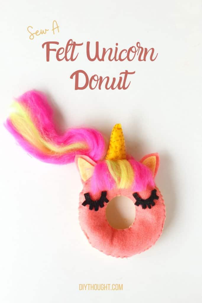 sew a felt uncorn donut