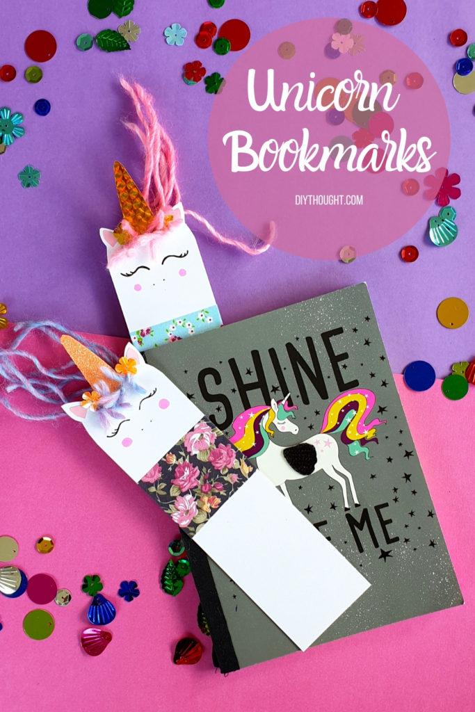 Easy DIY unicorn bookmarks