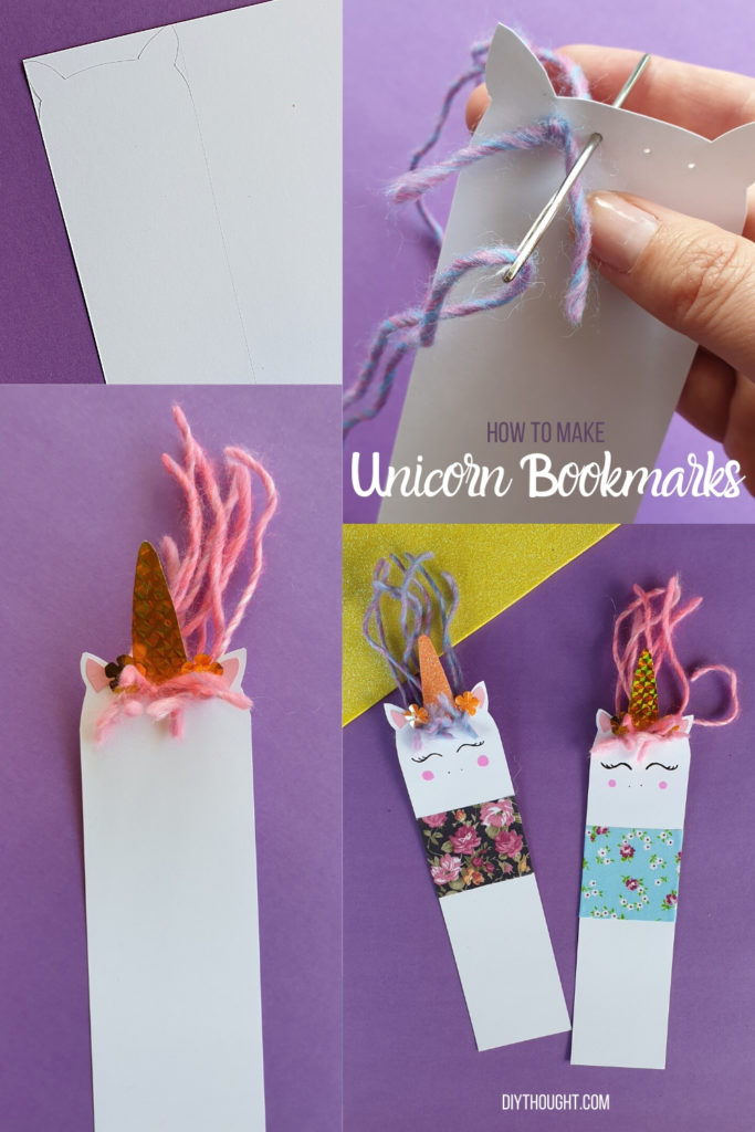 how to make a unicorn bookmark