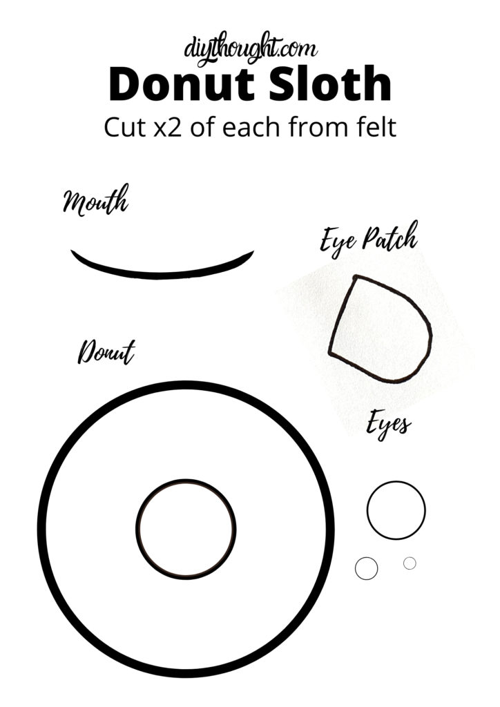 donut sloth softie pattern free