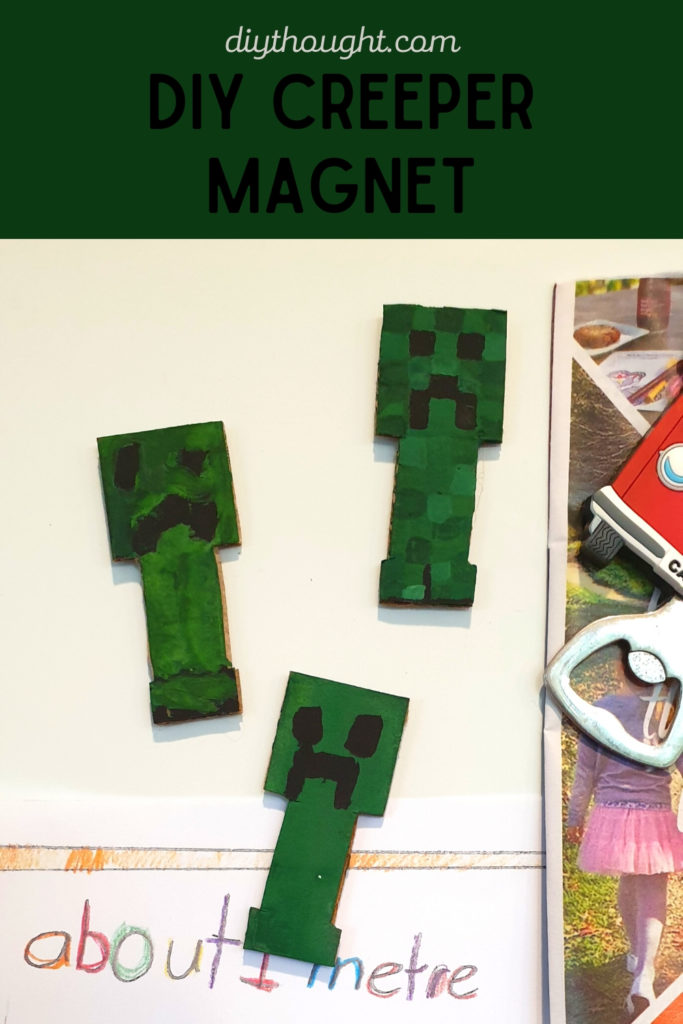 minecraft creeper magnet DIY