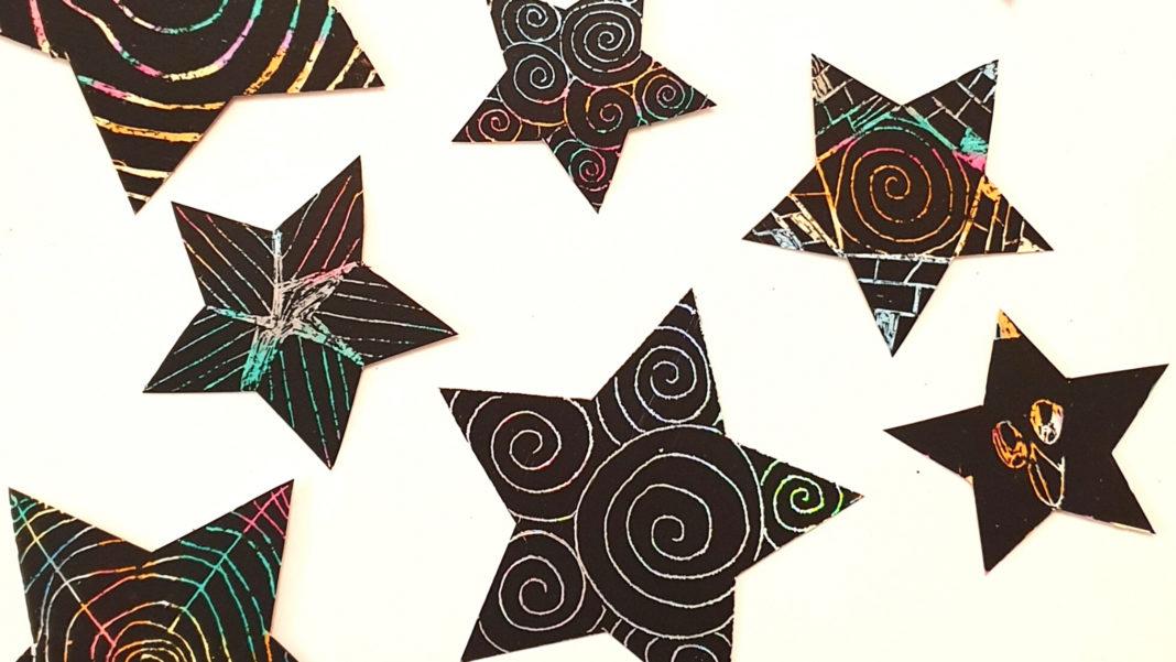 scratch art stars