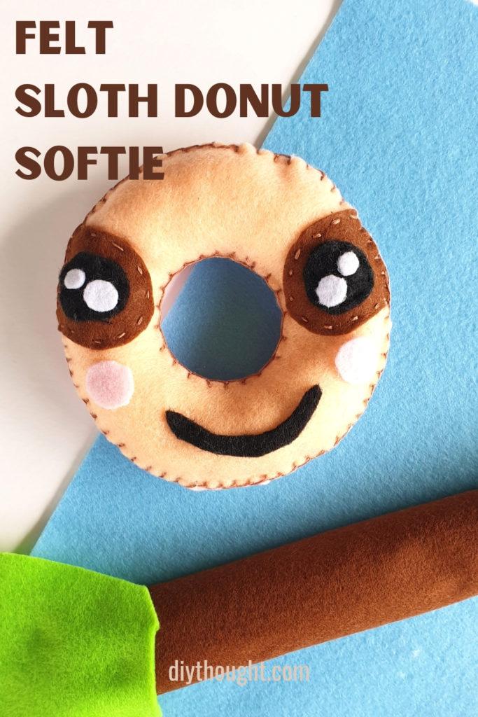 sloth donut softie tutorial
