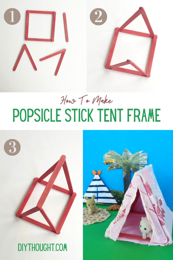 how to make a popsicle stick tent frame