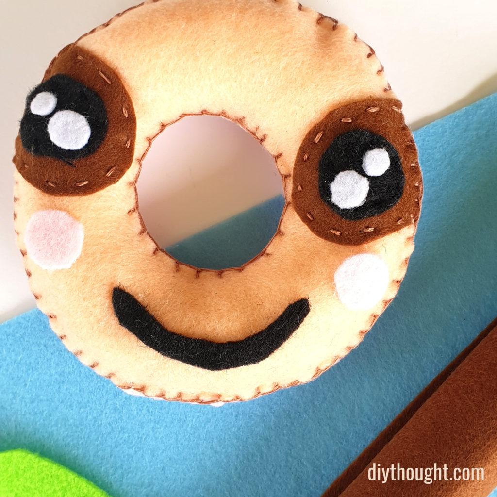diy felt sloth softie