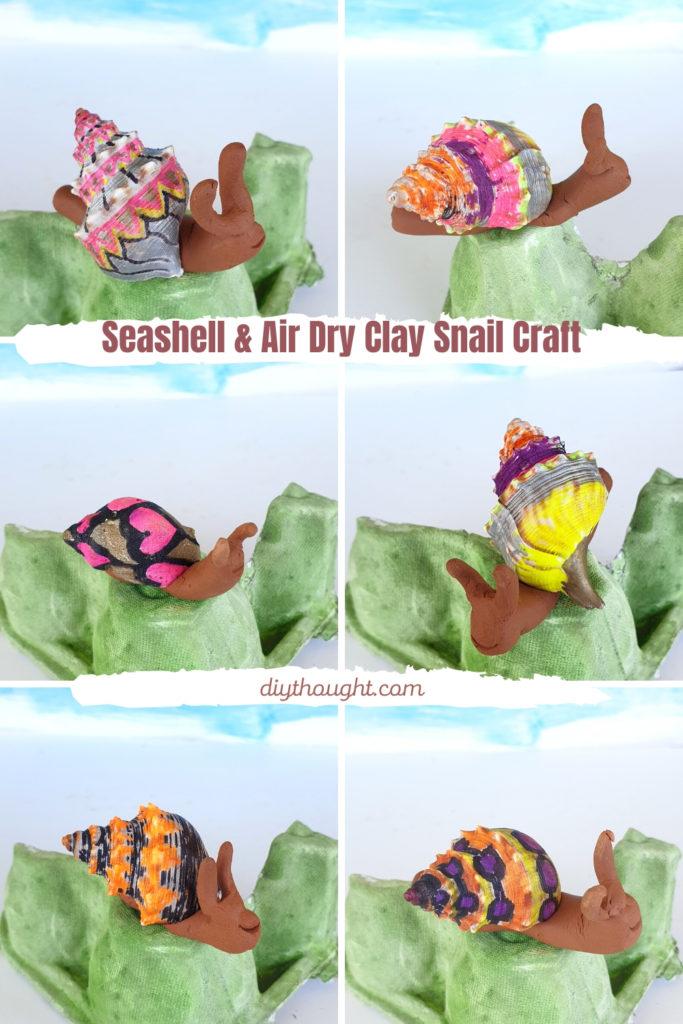 air dry clay snail craft