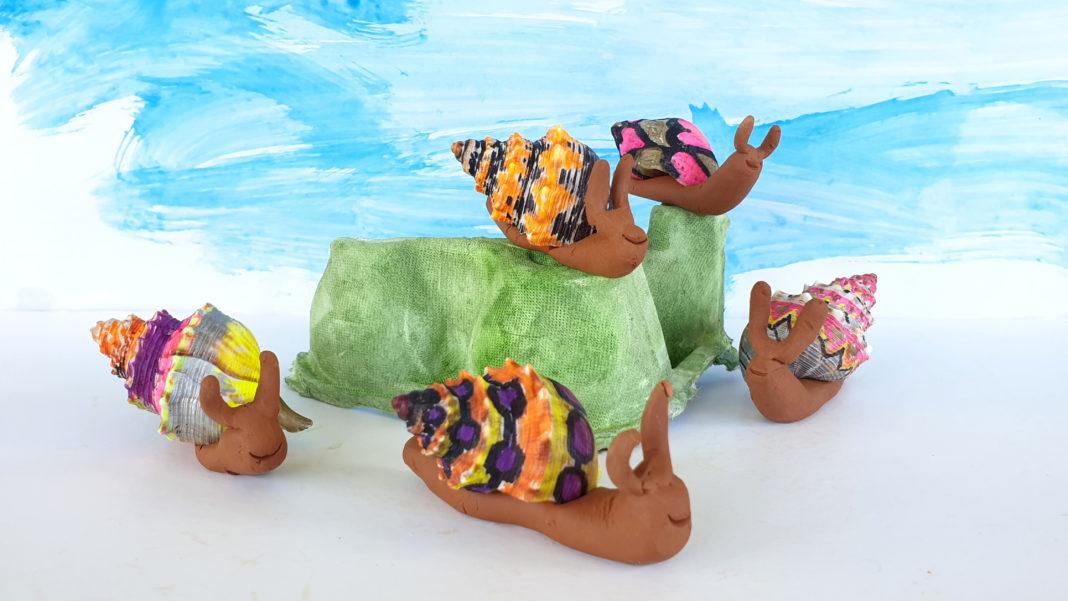 clay snail craft