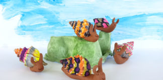 clay snail craft