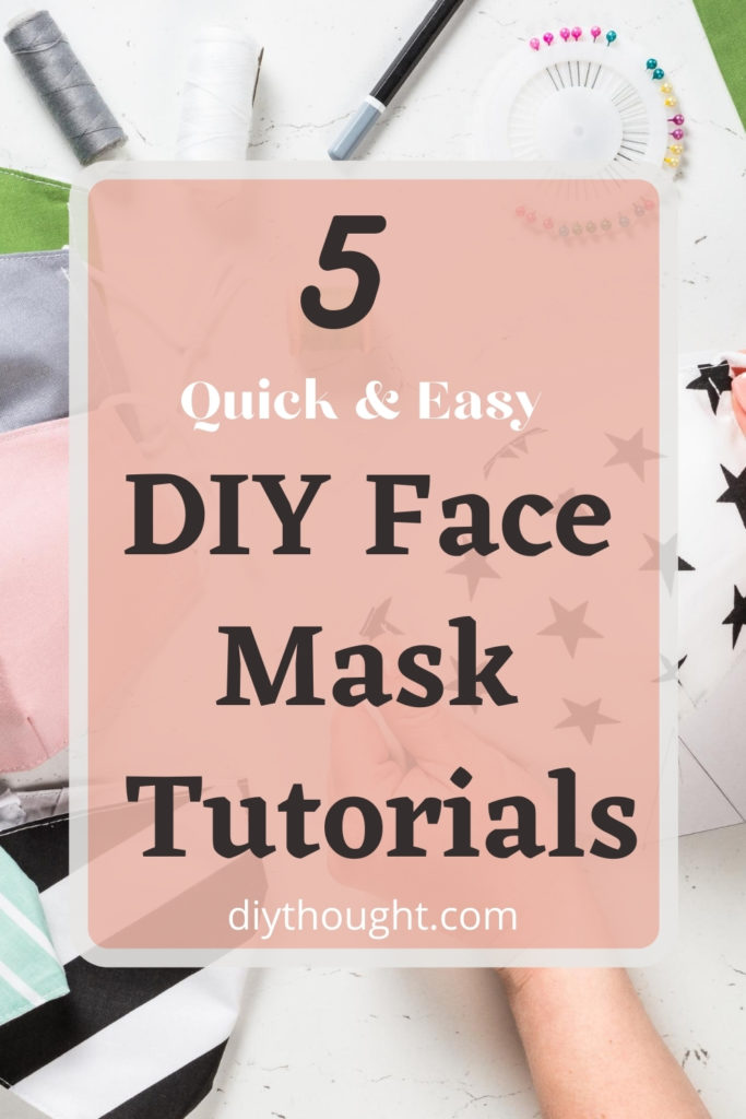 5 quick & easy DIY face mask tutorials