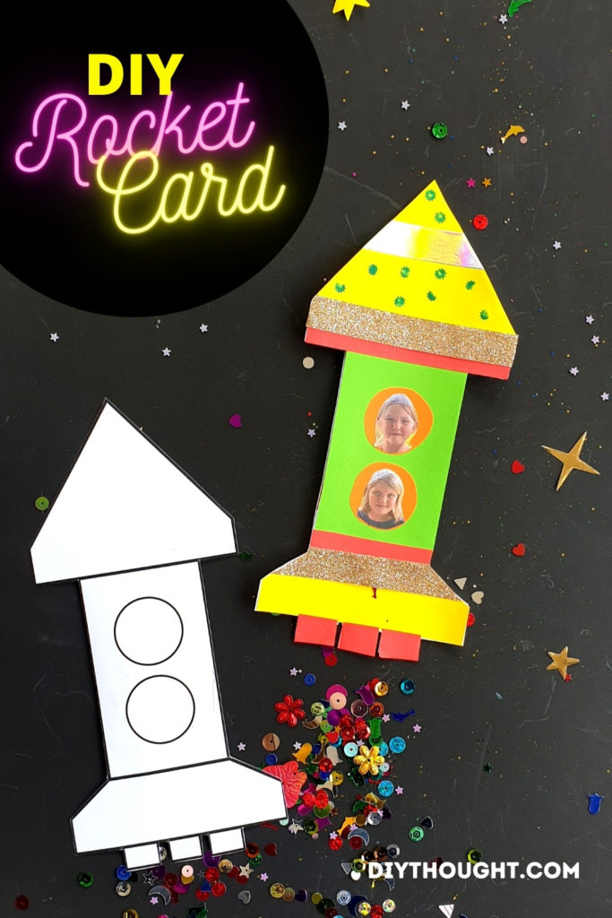 DIY rocket card craft