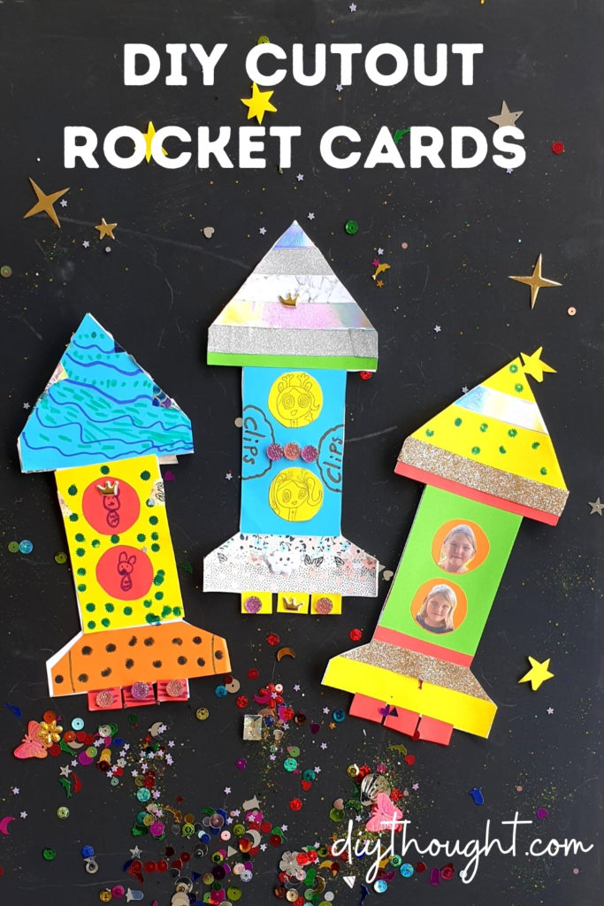 DIY cutout rocket cards