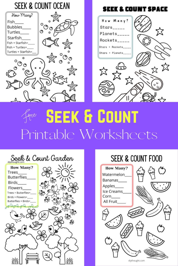 free seek and count printable worksheets.
