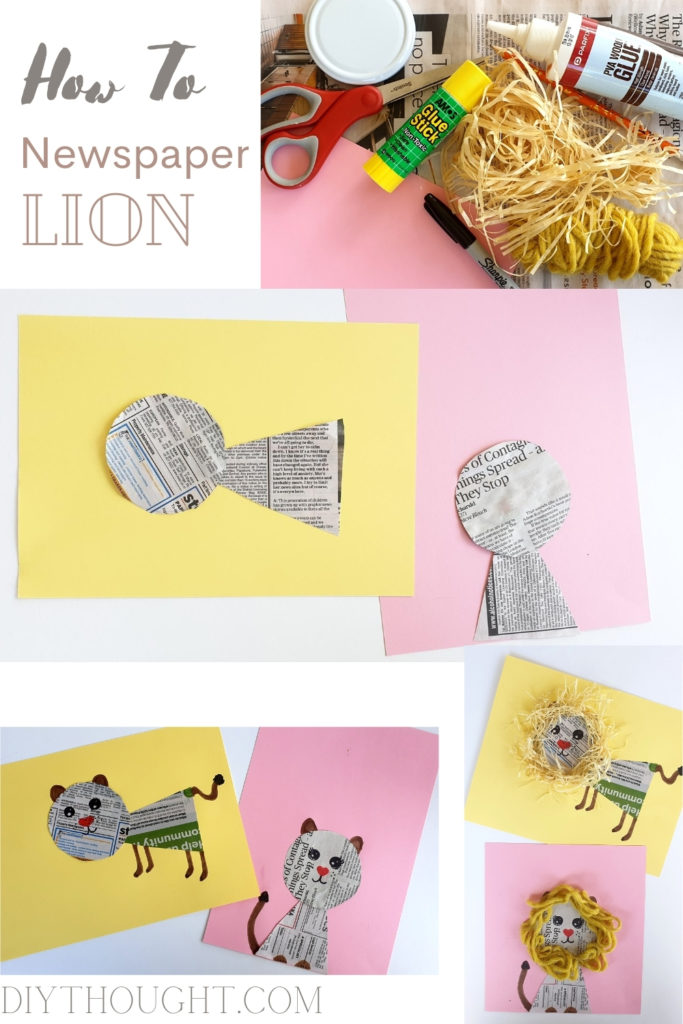 how to make a newspaper lion