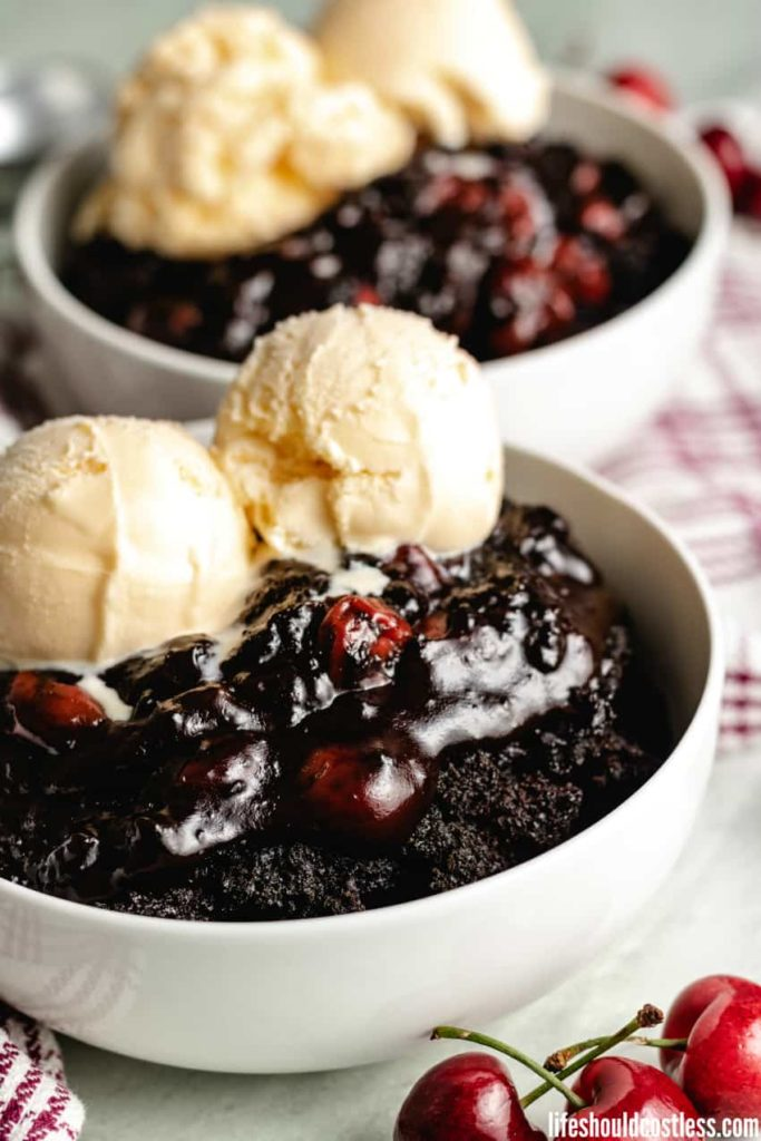 Slow Cooker Chocolate Cherry Dr Pepper Dump Cake