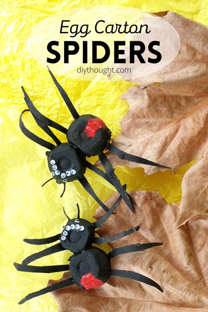 egg carton spiders. Redback spider craft.