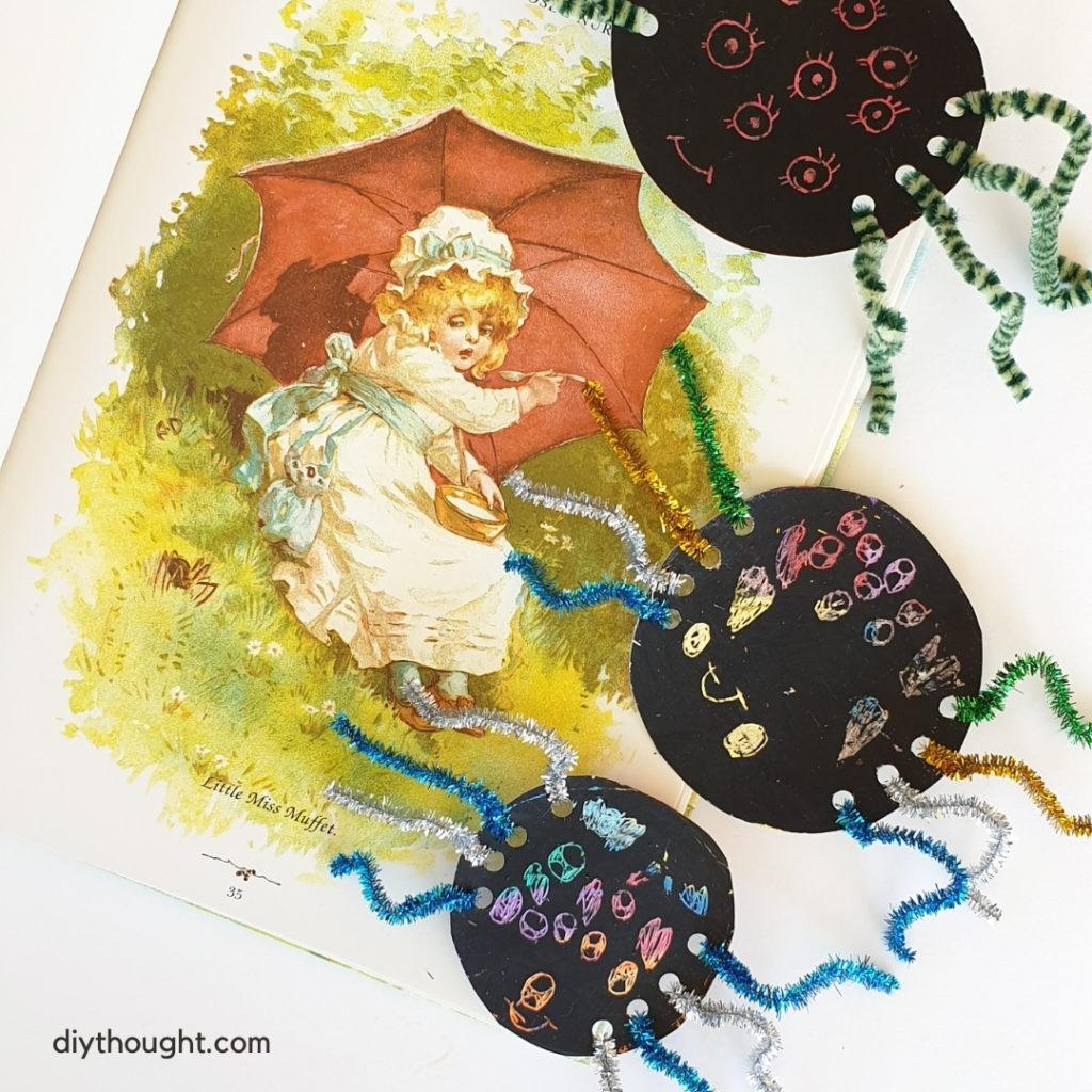 little miss muffet spider craft
