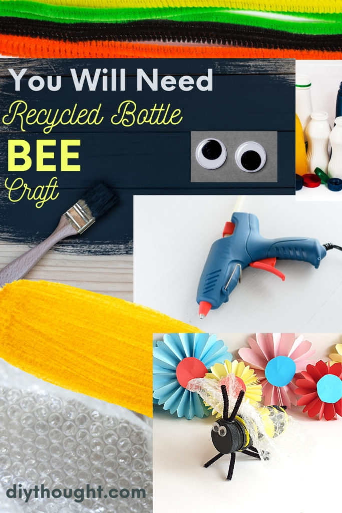 you will need to make a recycled bottle bee