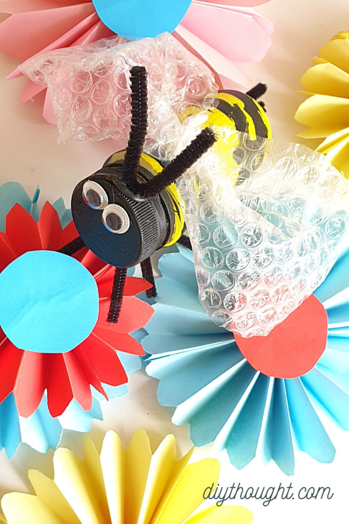 recycled bottle bee craft