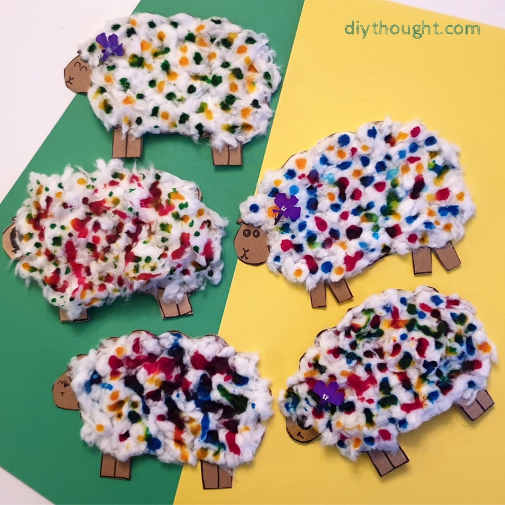 recycled woolly sheep craft