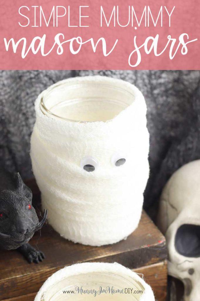 mummy mason jar craft