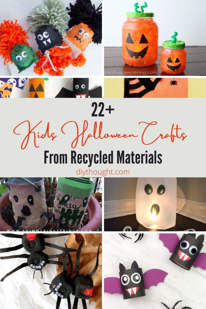 kids halloween crafts made from recycled materials