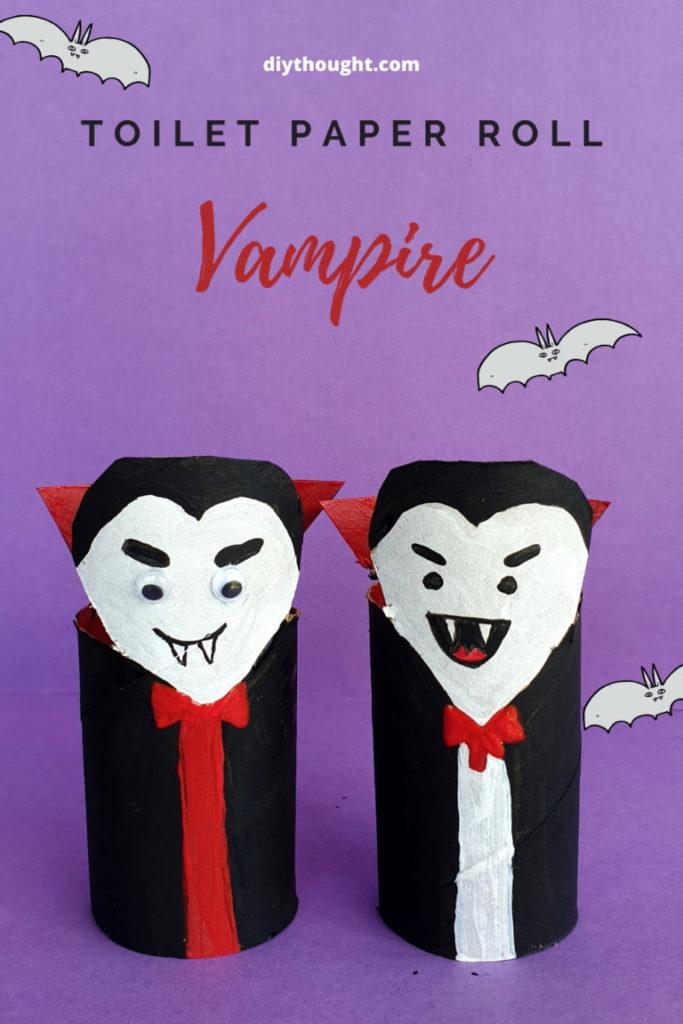 toilet paper roll vampire craft