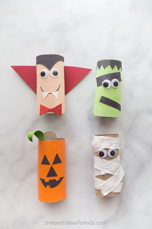 toilet roll halloween crafts