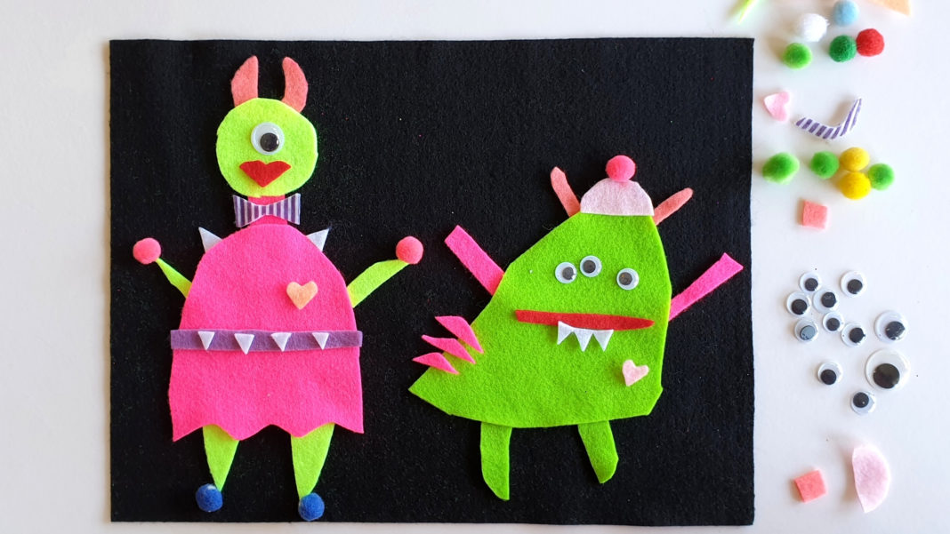 monster felt play mat