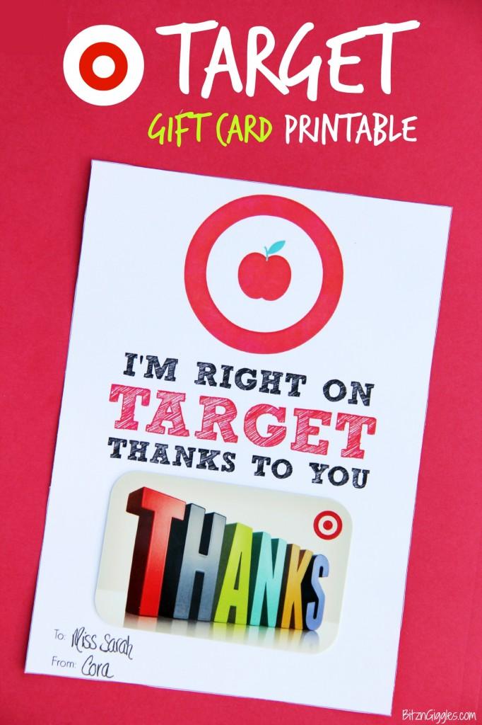 Target printable. 30+ Ultimate DIY Christmas Teacher Gifts