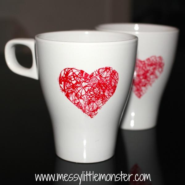 scribble heart mug gift. 30+ Ultimate DIY Christmas Teacher Gifts