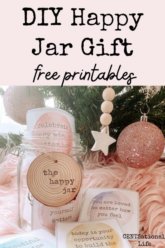 DIY Happy Jar gift. 30+ Ultimate DIY Christmas Teacher Gifts