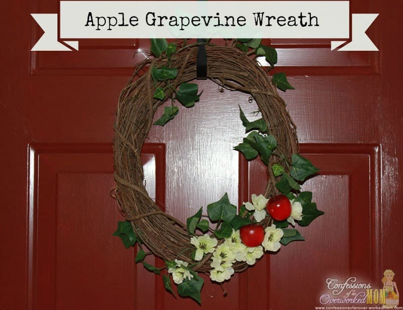 apple grapevine wreath. 30+ Ultimate DIY Christmas Teacher Gifts