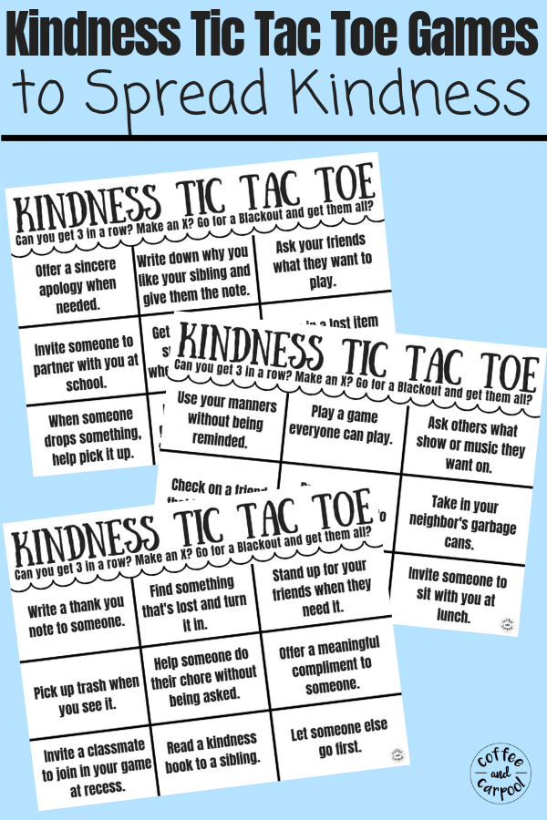 kindness tic tac toe game