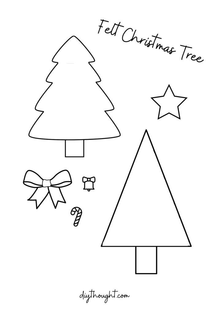 Felt Christmas Trees Diy Thought