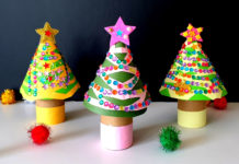 Toilet paper roll christmas tree